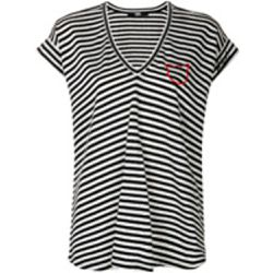 V-neck striped T-shirt - Karl Lagerfeld - Shopsquare