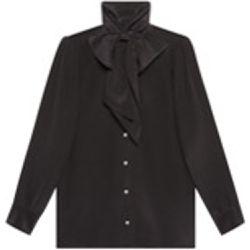 Silk shirt with garden print - Gucci - Shopsquare 9ce1c652975