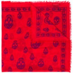 Skull print scarf - alexander mcqueen - Shopsquare