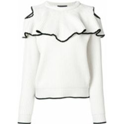 Ribbed ruffle jumper - alexander mcqueen - Shopsquare