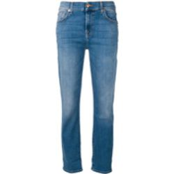 Stonewashed slim fit jeans - 7 For All Mankind - Shopsquare