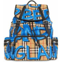 The Large Rucksack in Graffiti Print Vintage Check - Burberry - Shopsquare