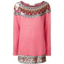 Sequin embellished slash neck sweater - alberta ferretti - Shopsquare