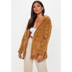 Marron réversible effet peau de mouton - Missguided - Shopsquare