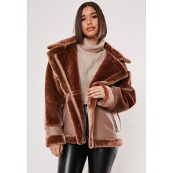 Aviateur marron détail fourrure - Missguided - Shopsquare