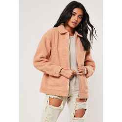 Pink Teddy Coat - Missguided - Shopsquare