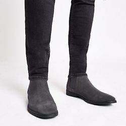 Bottines chelsea en daim - River Island - Shopsquare