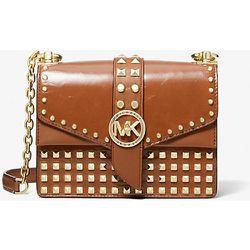 MK Très petit sac à bandoulière Greenwich en cuir verni clouté - - Michael Kors - MICHAEL Michael Kors - Modalova