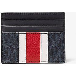 MK Grand porte-cartes Hudson rayé à imprimé logo - - Michael Kors - MICHAEL KORS COLLECTION - Modalova