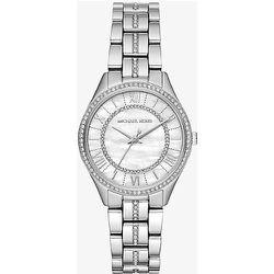 MK Petite montre Lauryn argentée à pierres pavées - Michael Kors - Modalova