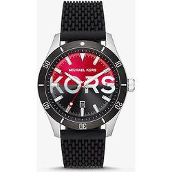 MK Montre Layton argentée surdimensionnée en silicone  - Michael Kors - Modalova