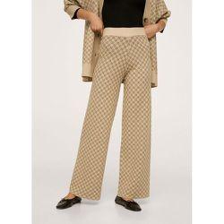 Pantalon maille en imprimé géométrique - Mango - Modalova