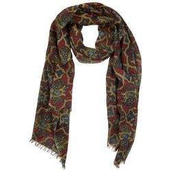Écharpe en laine motifs paisley - ATELIER F&B - Modalova