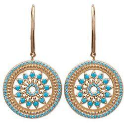 Boucles d'oreilles pendantes en argent MOSAIQUE - LORENZO R - Modalova