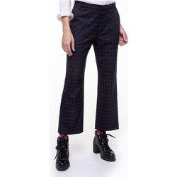 Pantalon laine mélangée raccourci à carreaux SOUDE - CHEMINS BLANCS - Modalova
