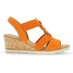 Sandales velours talon recouvert - Gabor - Modalova