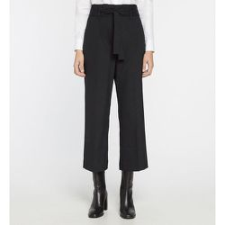 Pantalon Germain Crop Large Taille Haute Ceinture - GALERIES LAFAYETTE - Modalova
