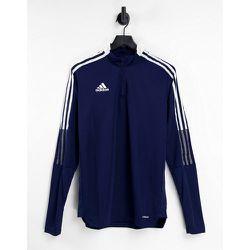 Adidas - Football Tiro 21 - Top partiellement zippé - Bleu - adidas performance - Modalova