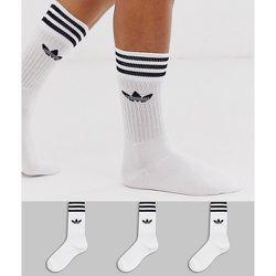 Adicolor - Lot de 3 paires de chaussettes à motif trèfle - adidas Originals - Modalova