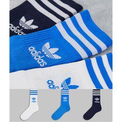 Adicolor - Lot de 3 paires de chaussettes mi-longues à logo trèfle - adidas Originals - Modalova