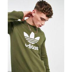 Adicolor - Sweat-shirt à grand logo trèfle - Kaki - adidas Originals - Modalova