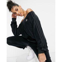 Relaxed Risqué - Sweat-shirt à épaules dénudées en velours - adidas Originals - Modalova