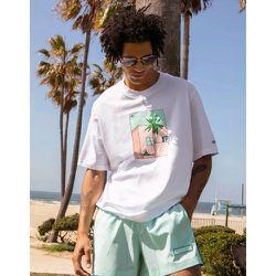 Summer Club - T-shirt oversize à imprimé graphique illustré à la main - adidas Originals - Modalova