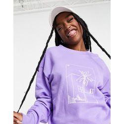 Sweat-shirt coupe boyfriend à imprimé - adidas Originals - Modalova