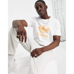 T-shirt à logo trèfle - et orange - adidas Originals - Modalova