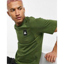 Adidas - T-shirt à logo encadré - Kaki - adidas performance - Modalova