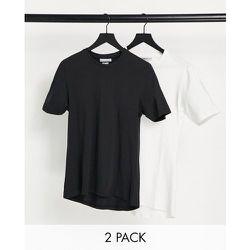 Lot de 2 t-shirts - Noir et blanc - Another Influence - Modalova