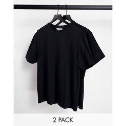 Lot de 2 t-shirts oversize coupe carrée - Another Influence - Modalova