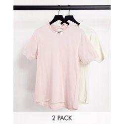 Lot de 2t-shirts moulants - Vieux rose et écru - Another Influence - Modalova