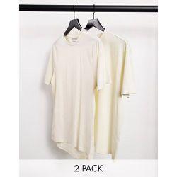 Lot de 2t-shirts oversize coupe carrée - Beige et écru - Another Influence - Modalova