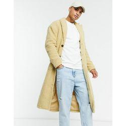 Manteau long en imitation peau de mouton - Écru - Another Influence - Modalova