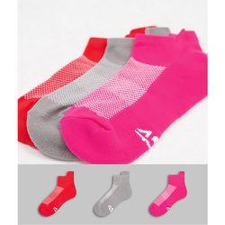 Lot de 3 paires de chaussettes de sport avec propriétés antibactériennes - ASOS 4505 - Modalova