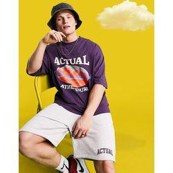 ASOS - Actual Athleisure - T-shirt oversize avec imprimé graphique - ASOS Actual - Modalova