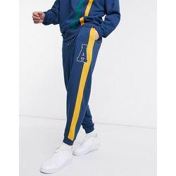 Jogger d'ensemble oversize avec bandes façon coupé-cousu - Bleu - ASOS Actual - Modalova