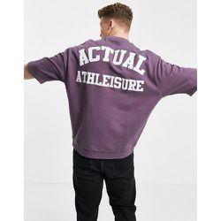 ASOS - Actual - Sweat-shirt manches courtes avec appliqué logo - ASOS Actual - Modalova
