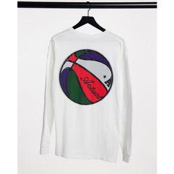 T-shirt à manches longues imprimé au dos - ASOS Actual - Modalova