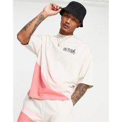 T-shirt d'ensemble oversize avec détail color block arrondi - ASOS Actual - Modalova