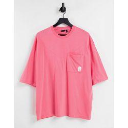 T-shirt oversize à surpiqûres et poche - ASOS Actual - Modalova