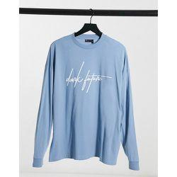T-shirt oversize à manches longues avec logo écrit - pastel - ASOS Dark Future - Modalova