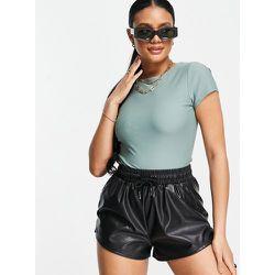 Body t-shirt mat style disco - Kaki - ASOS DESIGN - Modalova