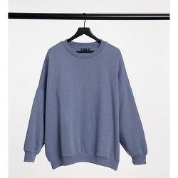 ASOS DESIGN Curve - Sweat-shirt oversize coupe cocon douillet - Gris dauphin - ASOS Curve - Modalova