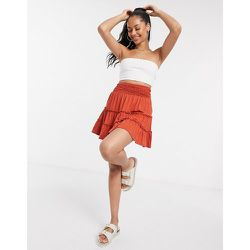 Mini-jupe à volants - Rouille - ASOS DESIGN - Modalova
