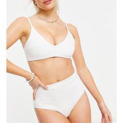 ASOS DESIGN Petite - Mix and Match - Bas de bikini recyclé à taille haute et coupe échancrée - ASOS Petite - Modalova