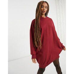 Robe pull oversize à capuche - Lie-de-vin - ASOS DESIGN - Modalova