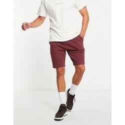Short plissé en jersey - Rouge - ASOS DESIGN - Modalova