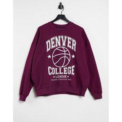 Sweat-shirt avec inscription Denver - Bordeaux - ASOS DESIGN - Modalova